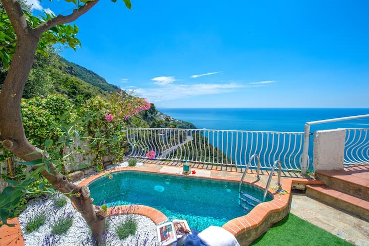 Villa in positano amazing sea view - with pool