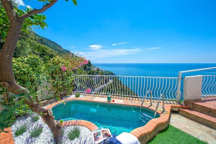 Villa in positano amazing sea view - with pool