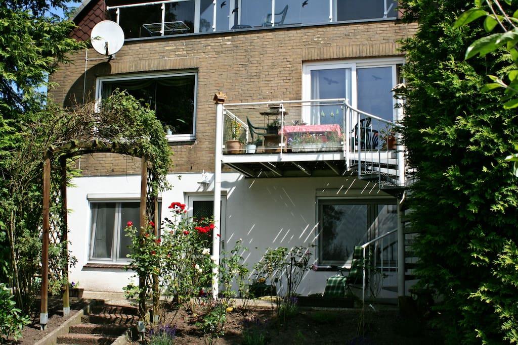 Zugang von der Terrasse