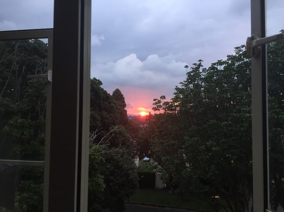 Sunset from upstairs