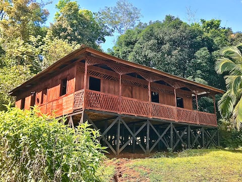 Cabin on the jungle with prívate forest & sea view