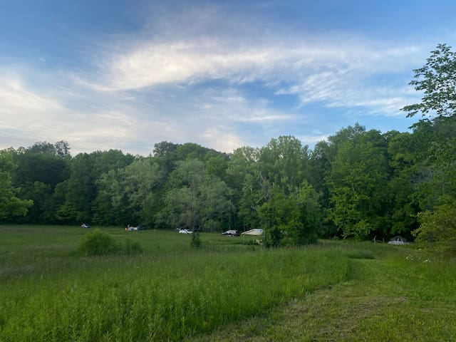 Primitive Creekside Camping @ Brown Bike Farms #4