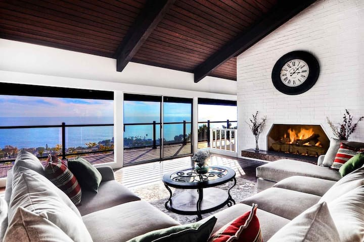 Laguna Beach Mid Century Ocean View Home with Pool, Amazing Catalina and Sunset Views!