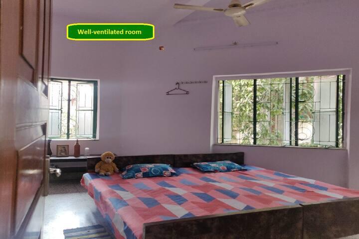 Airy, spacious, clean bedroom