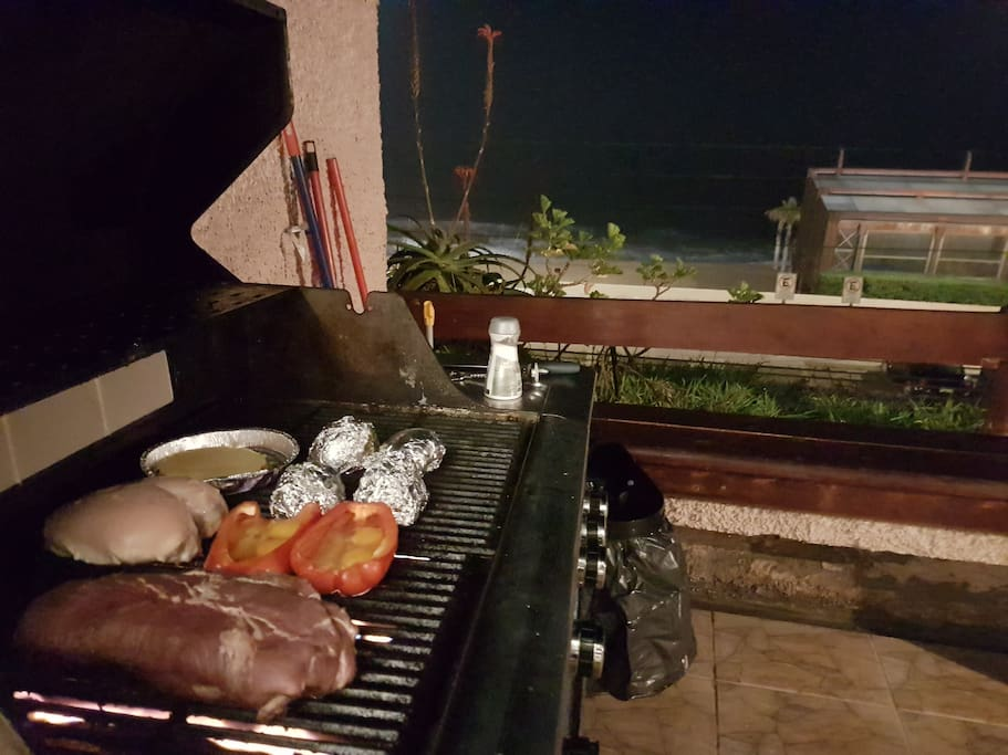 Professional grill fully equipped