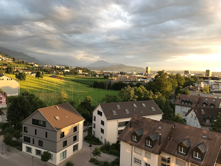 Apartment with balkony, 9th floor, baar, zug