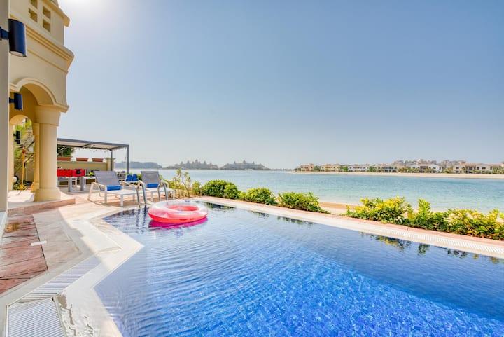 Fabulous Beachfront Palm Villa | Private Pool