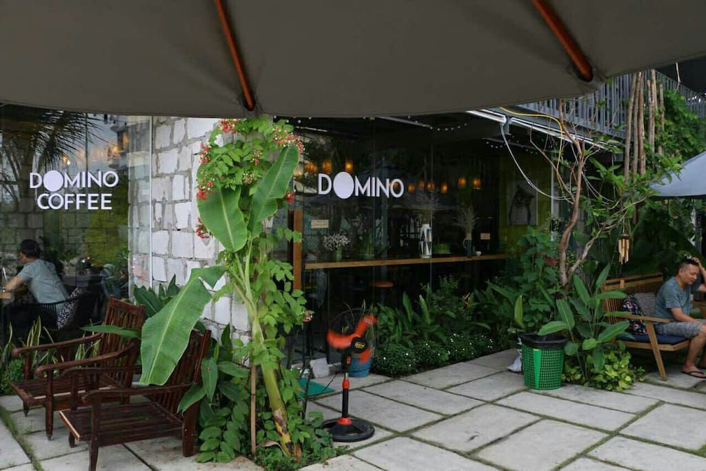 Domino Coffee Garden is right downstairs where you can sip a cup of traditional Vietnamese coffee