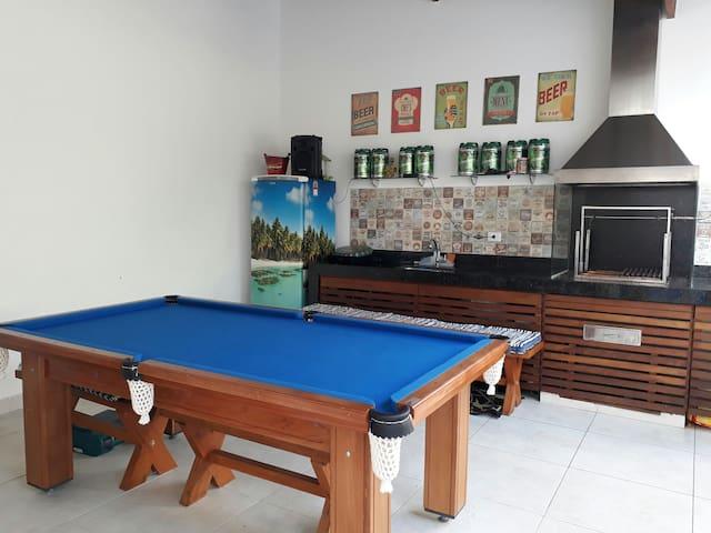 Casa de praia com piscina em condomínio. - São Sebastião, Boraceia, Litoral Norte de São Paulo - Casa