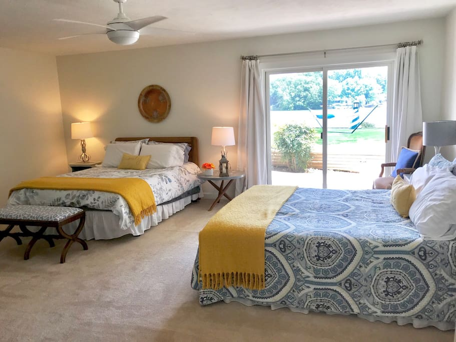 The suite was recently painted and has wonderfully soft linens for those lazy mornings. We provide extra outlets for charging electronics.
