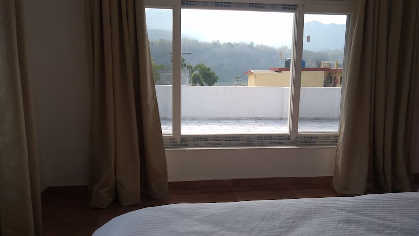 Your Own bedroom.....with view of River Ganga..