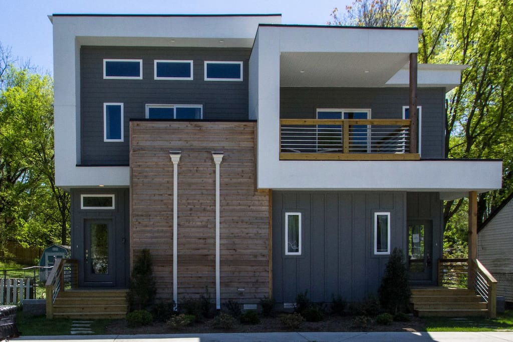 This brand new Nashville home features modern design and a premier location.
