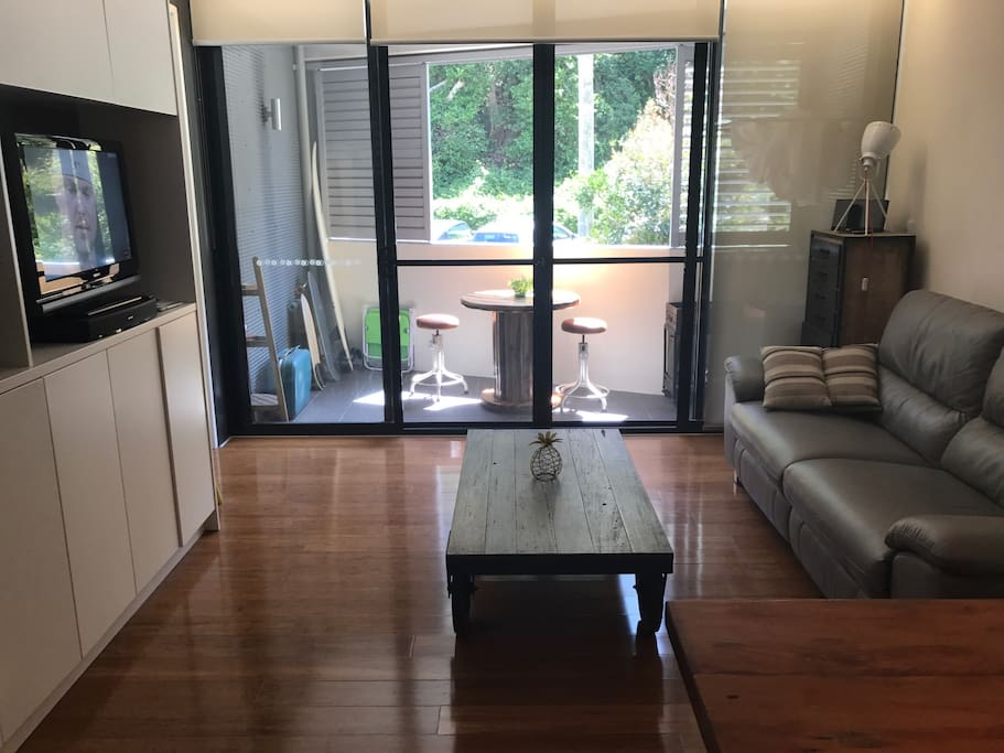 Living space opens to private outdoor space