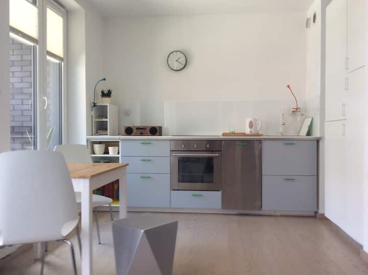Comfortable studio apartment in the city.