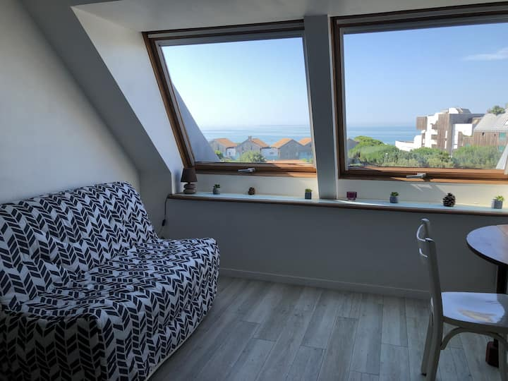 Belle vue sur mer pour ce studio à 100m  de la plage - Lancelot