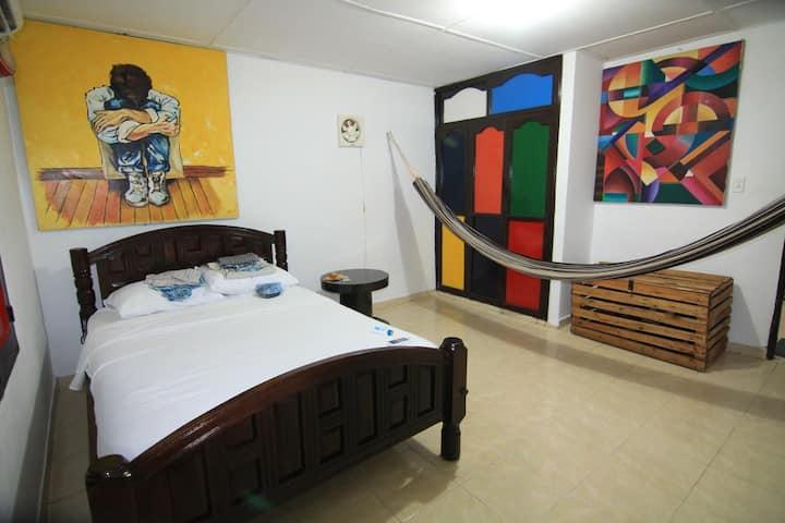 Hammocks Hostel - chambre double ac sdb