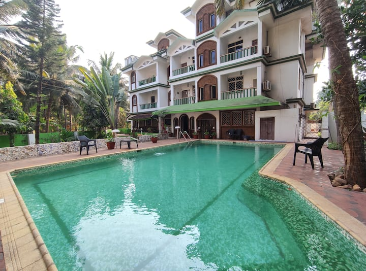 2BHK apartment in Goa near Majorda Beach