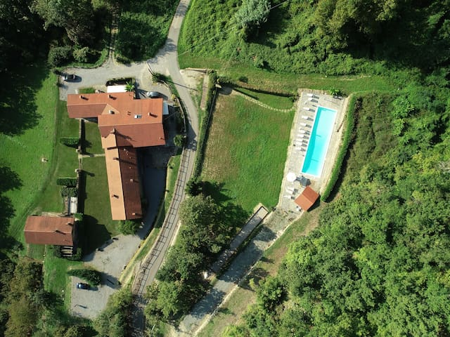 Ariel View Of Farm & Pool