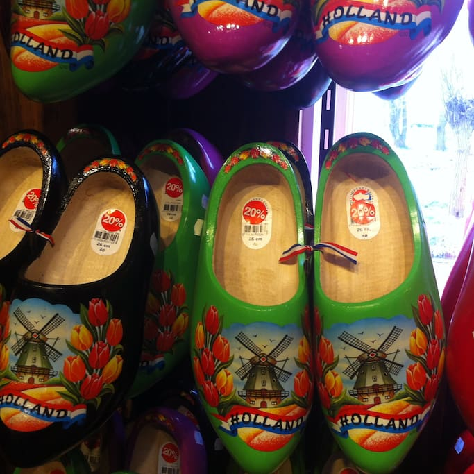 The wooden shoes in Holland.