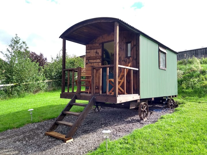 Cosy Shepherd's Hut with spectacular views