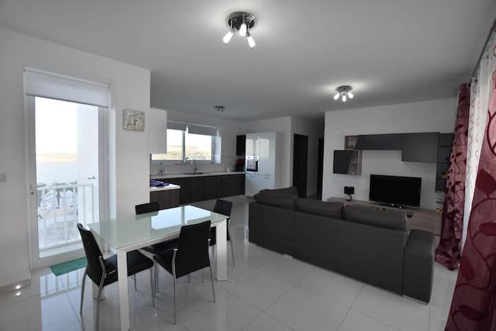 Superb Seaview Semi Detached Apartment  Qawra