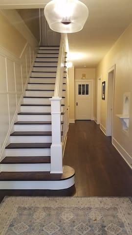 First floor hallway, view from front door.