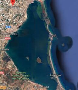 Piso muy luminoso en San Javier a 2 km de la playa
