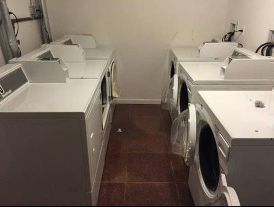 Laundry facilities in basement