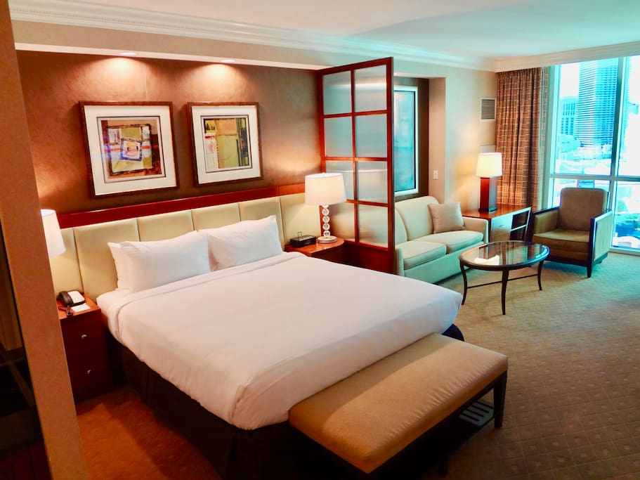 Spacious suite with a luxurious KING bed