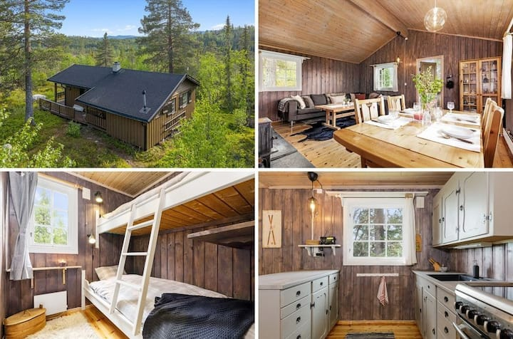 Close to Norefjell Ski Resort Idyllic Family Cabin