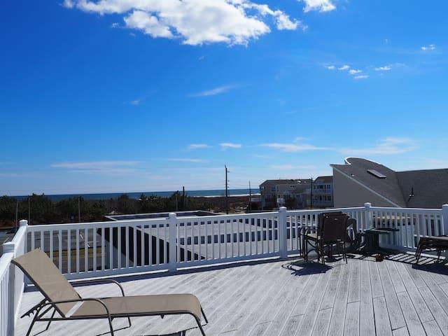 Beach Block - Ocean view deck on the complex