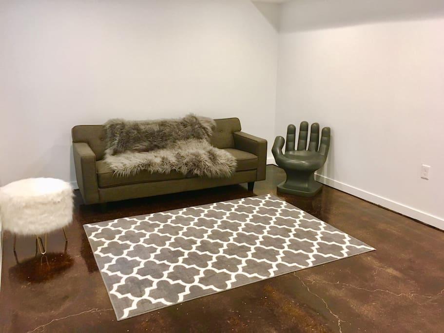 Living room set up.