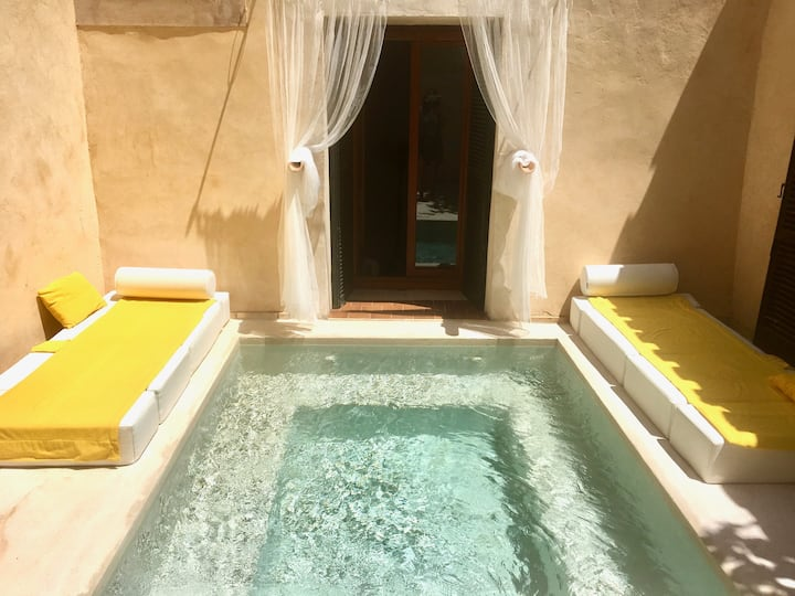 Traditional villa with very private plunge pool/AC