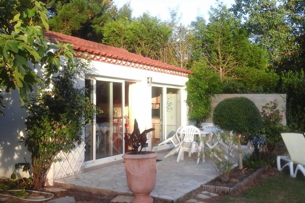 terrasse salon jardin