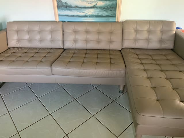 Large comfy couch in Frederiksted