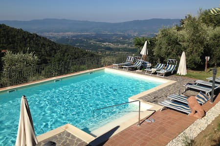 House with pool facing the famous Chianti hills