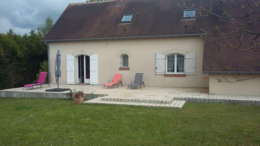 Maison près de Chambord et de Blois avec jardin