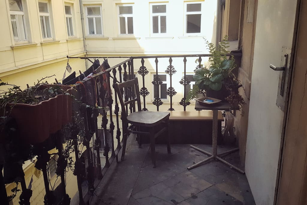 You can chill-out on the balcony