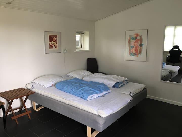 Dejlig lejlighed med eget bad og toilet (1)