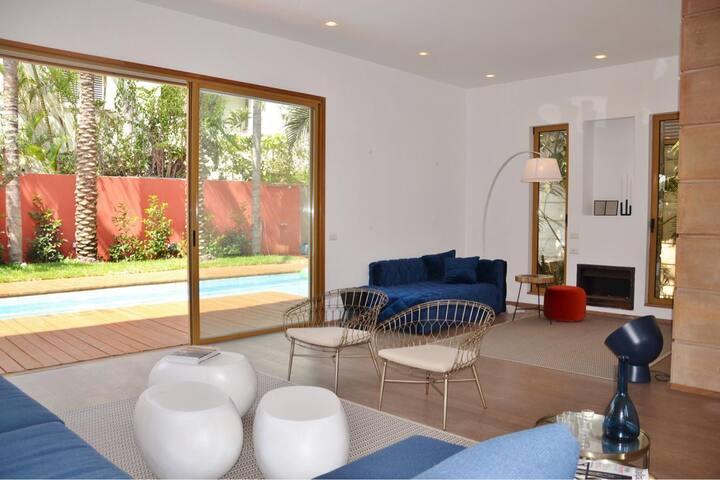 Espace, calme et luxe pour cette villa + 12 pers.