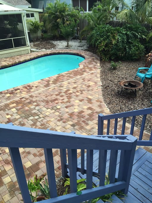 view of pool from deck