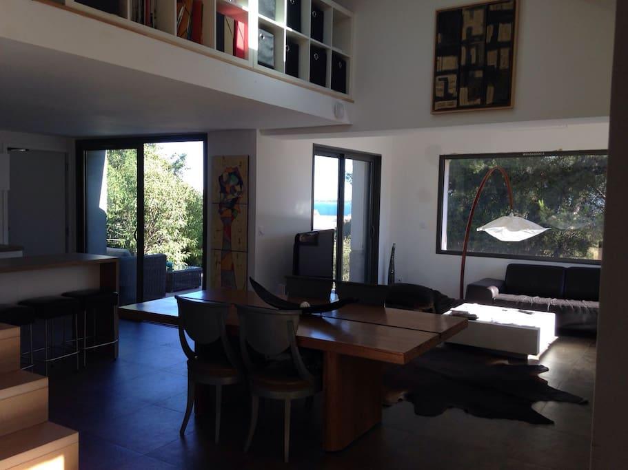Salon, espace TV