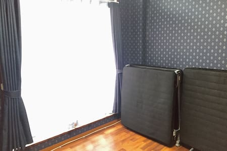 Free WiFi! Private 2 Beds! Wide lockable safe room - Tokushima-shi - Appartement