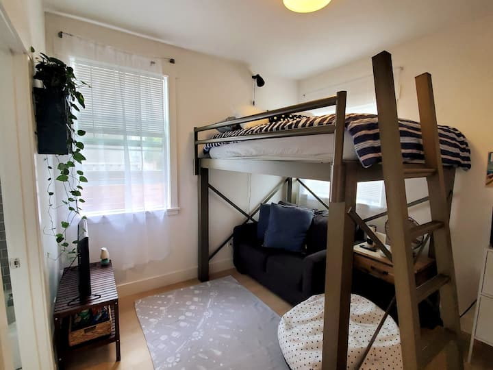 Loft Bed & Private Bathroom Across EC Plaza Bart