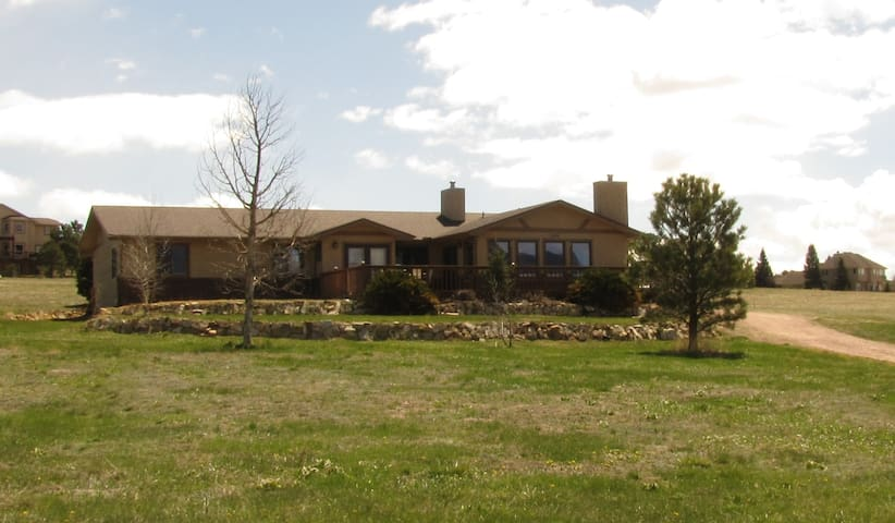 Our beautiful home sitting on large open lot.