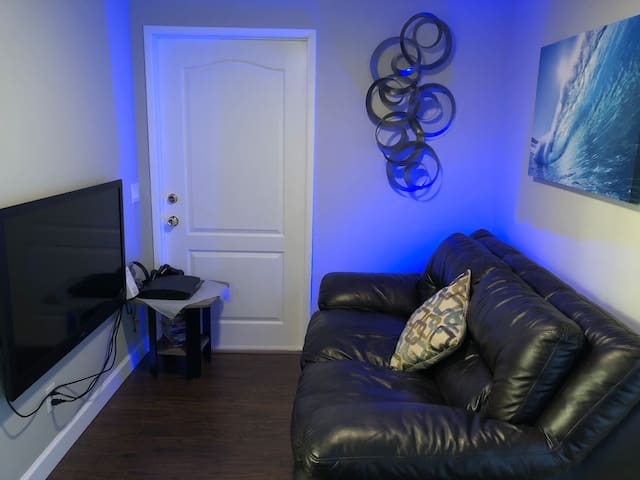 Separate gaming/TV area for the kids (or the kid in you!)
