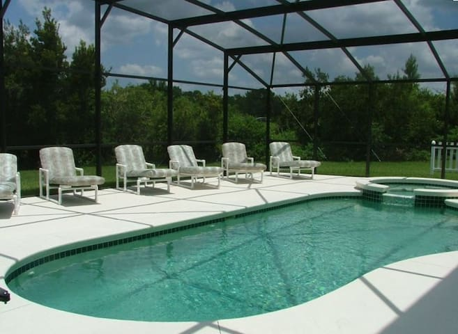 Luxury near Disney Large extended private pool/spa
