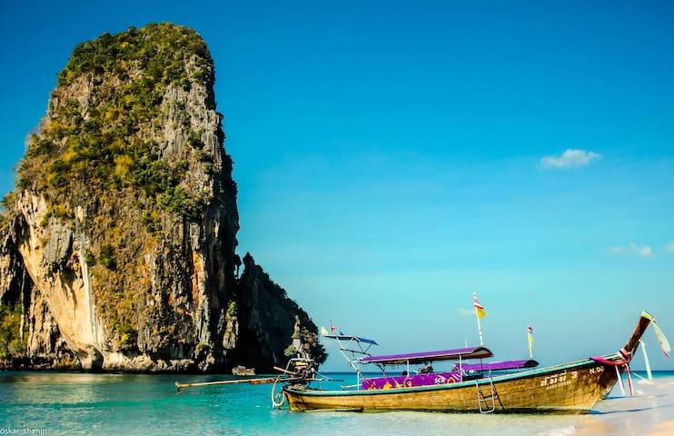 Tour to Railay beach at Krabi