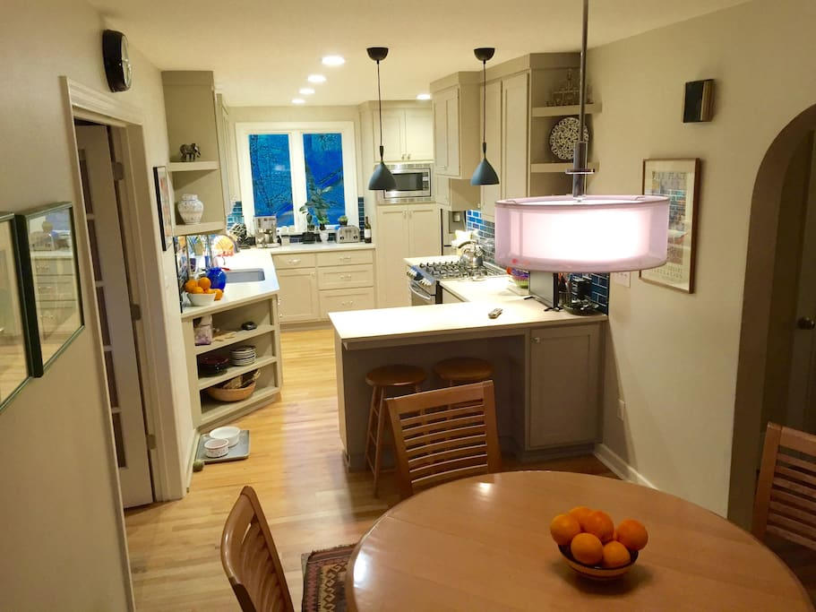 Kitchen and casual eating area -- fully remodeled in 2016