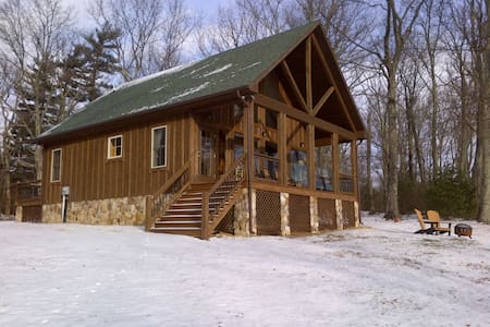 Cabin on a ledge - The Black Bear Cabin - Stanardsville - Casa